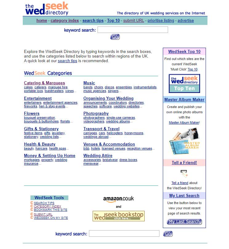 The WedSeek Directory 1998 - 2019